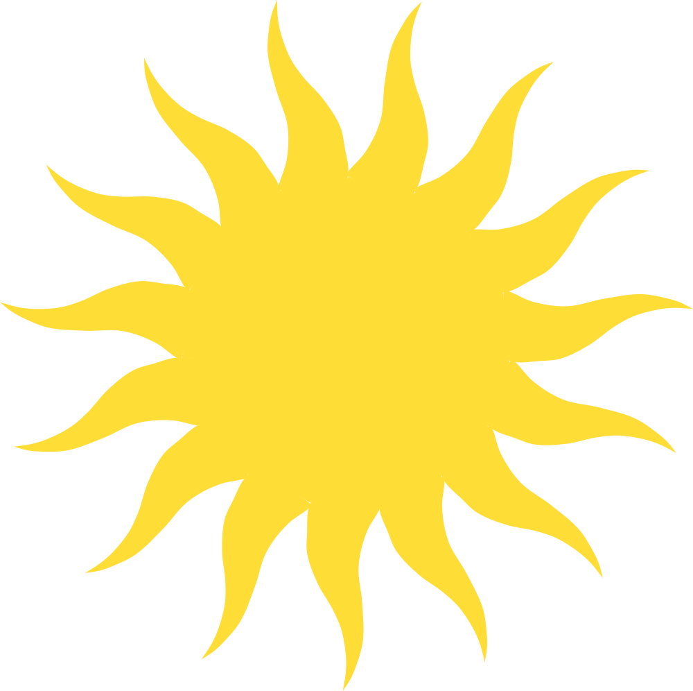 OnlineLabels Clip Art - Blazing Sun vector library stock