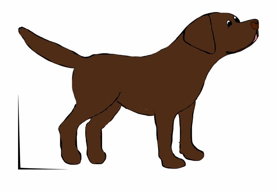 Chocolate lab clipart free clip art transparent download Marley The Chocolate Labrador - Chocolate Lab Drawing Cartoon Free ... clip art transparent download