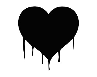 Bleeding heart border clipart png black and white Collection of Bleeding heart clipart | Free download best Bleeding ... png black and white