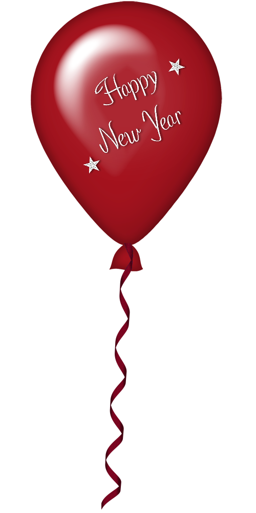 New Year Red Balloon PNG Clipart | Gallery Yopriceville - High ... banner black and white library