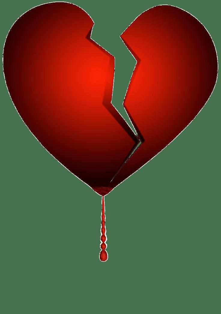 Cracked heart clipart clip art Broken Bleeding Heart transparent PNG - StickPNG clip art