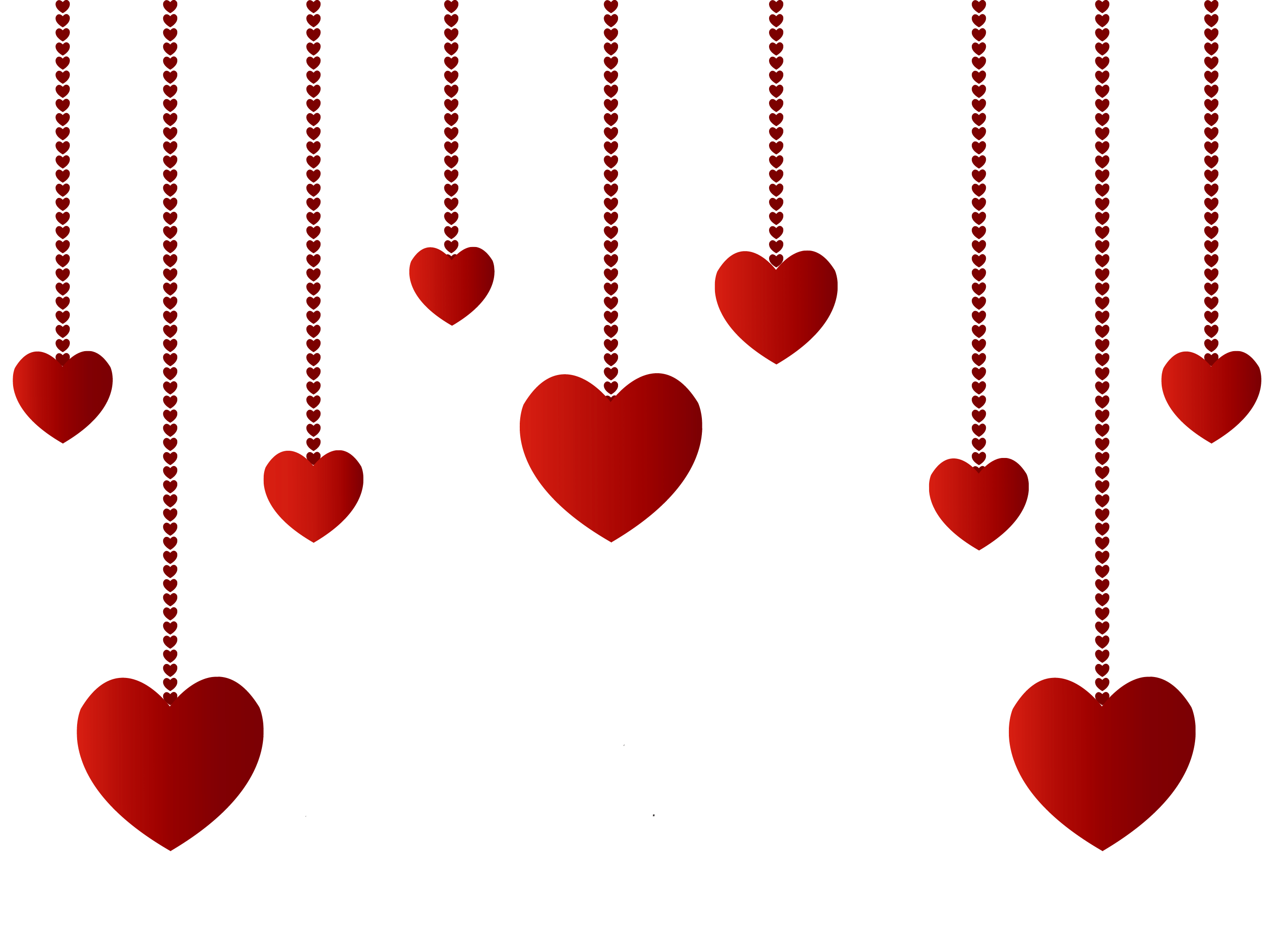 Heartbeat with heart clipart clipart black and white library Hanging Hearts Decoration PNG Picture | CLIPART | Pinterest ... clipart black and white library