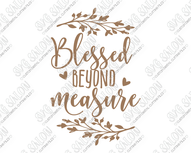 Blessed beyond measure clipart vector royalty free download Blessed Beyond Measure Wreath Cut File in SVG, EPS, DXF, JPEG, and PNG vector royalty free download