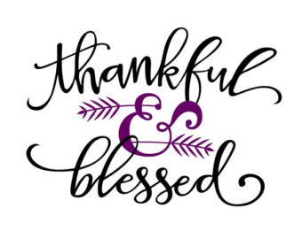 Thankful blessings cliparts