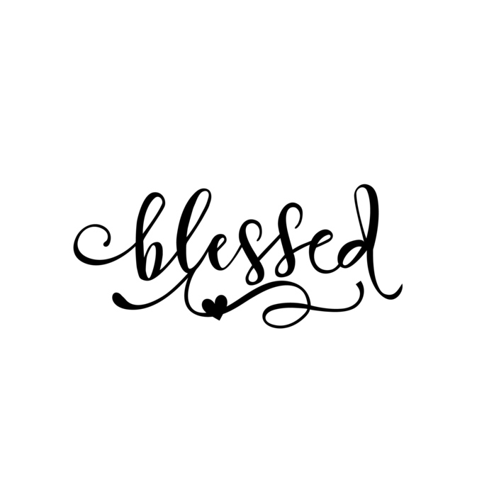 Blessed clipart banner royalty free library Blessed word Graphics SVG Dxf EPS Png Cdr Ai Pdf Vector Art Clipart instant  download Digital Cut Print File banner royalty free library
