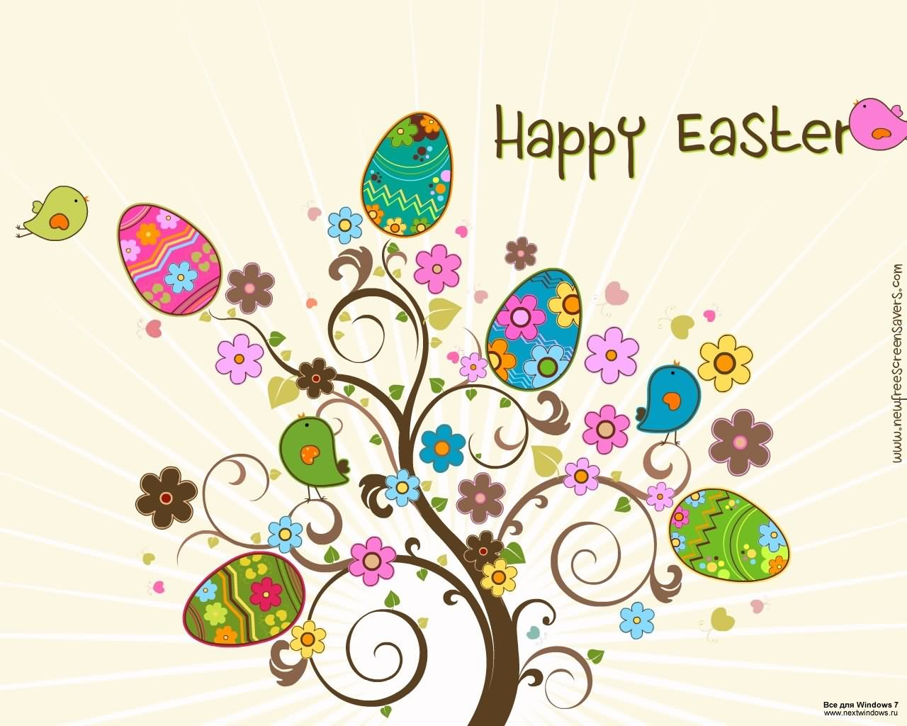 Blessed easter clipart clip art library library Happy Easter Clipart Eggs Tree Picture clip art library library