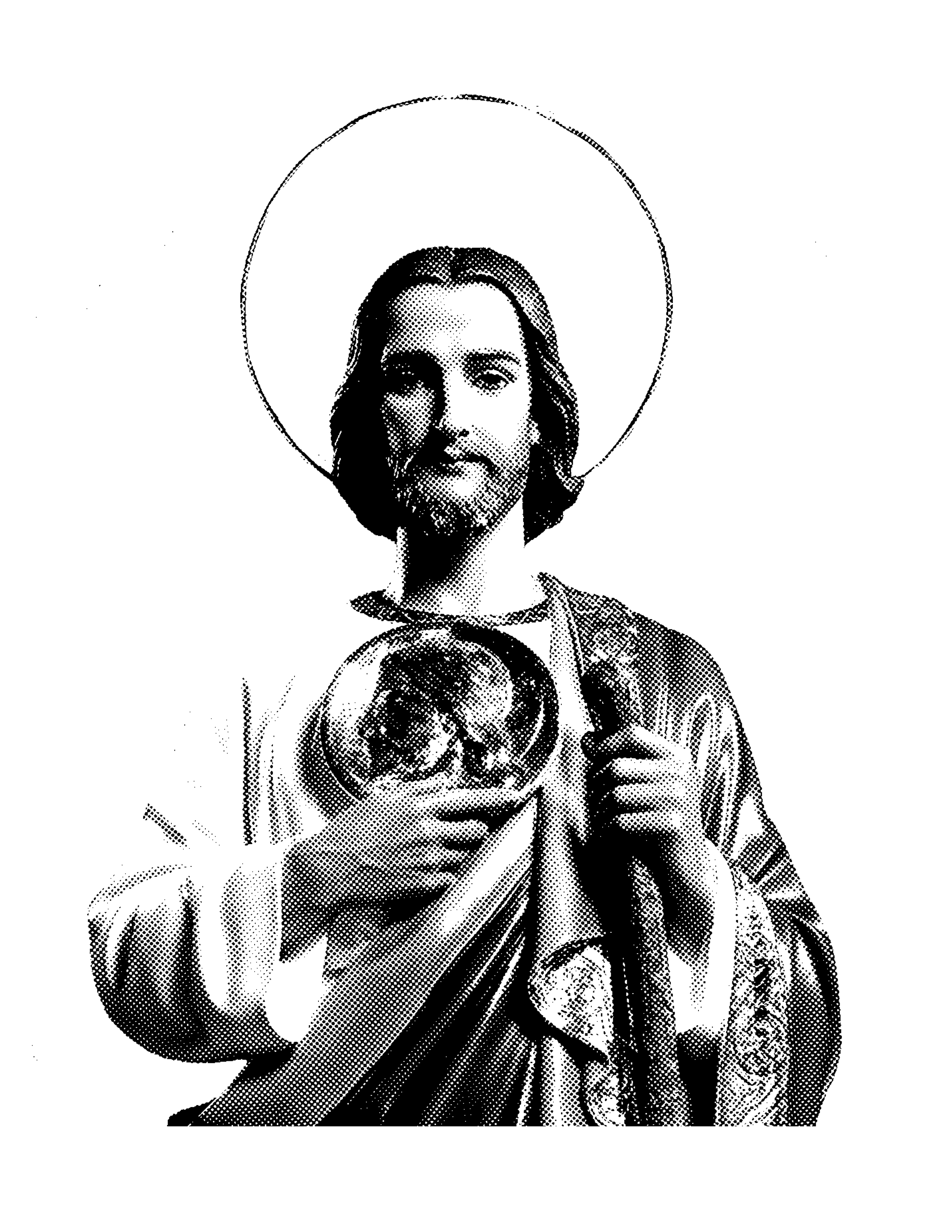 Blessed mother with crown clipart black and white black and white Image result for pinterest.pictures of judas thaddeus | sacred O-L-D ... black and white