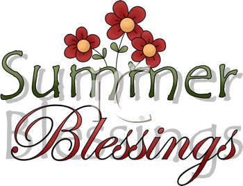 Summer clipart words svg free library iCLIPART - Royalty Free Clipart Image of a Summer Blessings Word Art ... svg free library