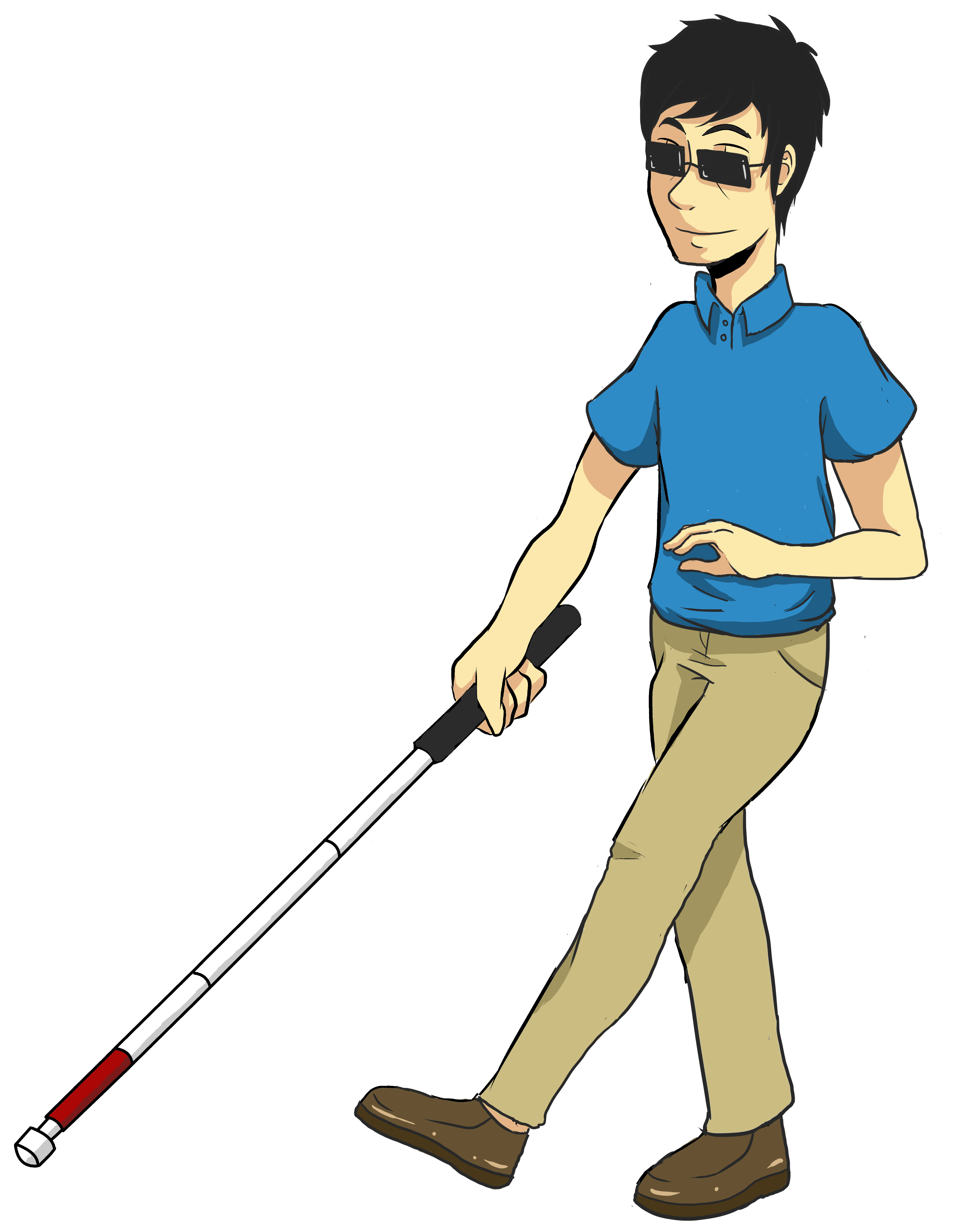 Man walking a dog clipart vector free Blind Man Clipart vector free