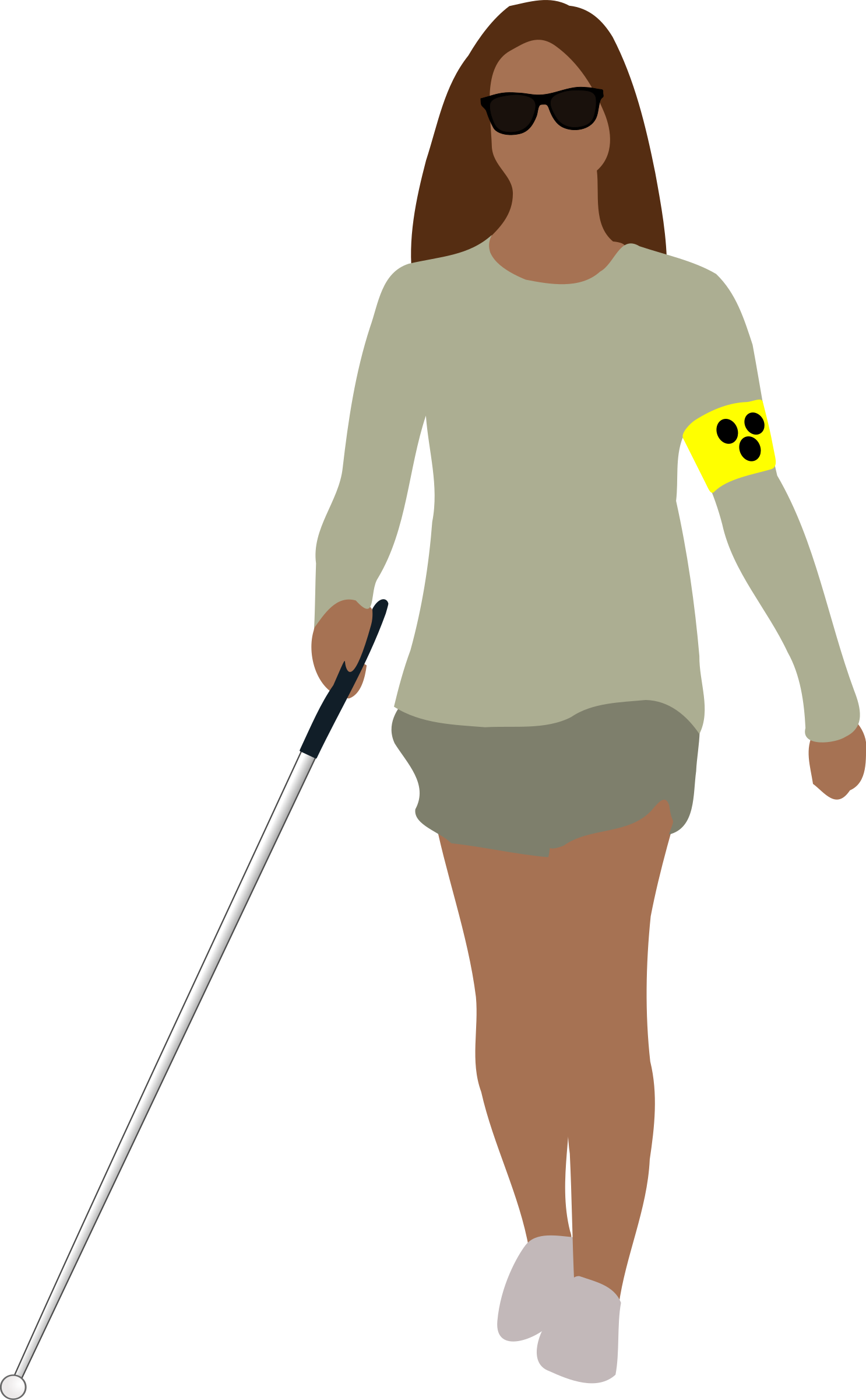 Blind people clipart