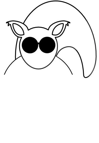 Blind squirrel clipart image royalty free White Squirrel With Sunglasses And Acorn Clip Art at Clker.com ... image royalty free