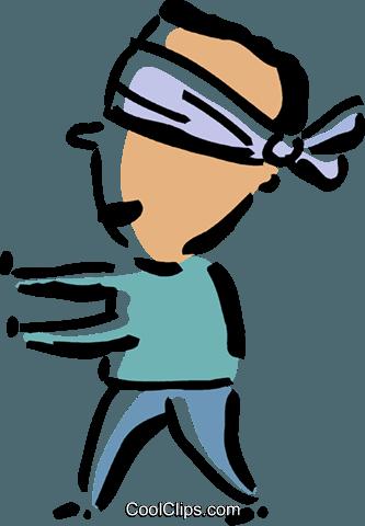 Blindfolded clipart