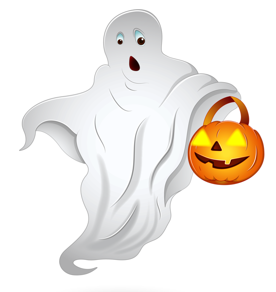 Halloween church clipart jpg black and white stock Halloween Ghost with Pumpkin Basket PNG Clipart | Imagenes png ... jpg black and white stock