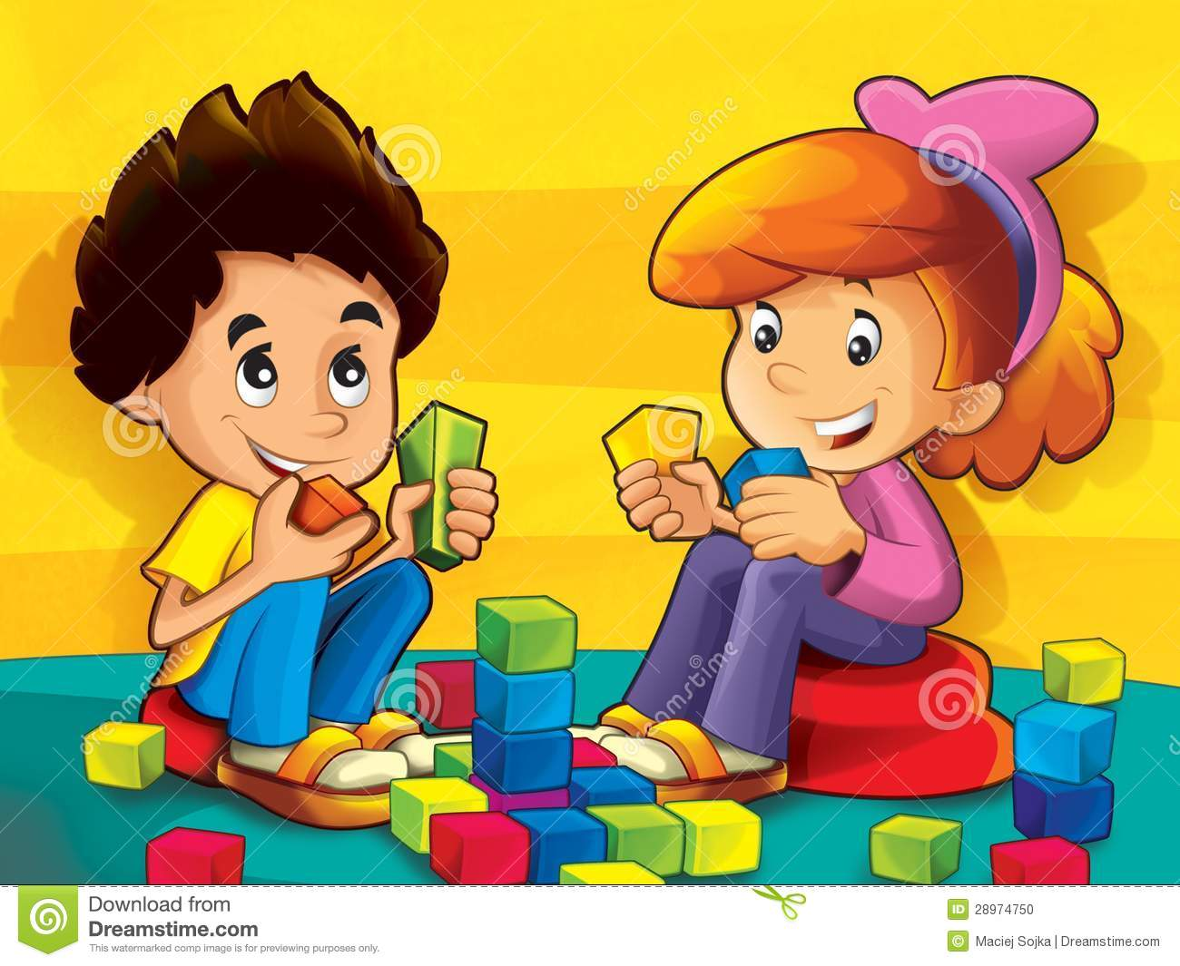 Block area clipart jpg download Kids at blocks area clipart - ClipartFest jpg download