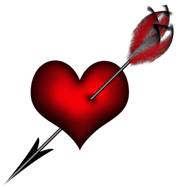 Heart arrow clip art png black and white Transparent Heart with Arrow Clipart Picture | BE MINE ... png black and white