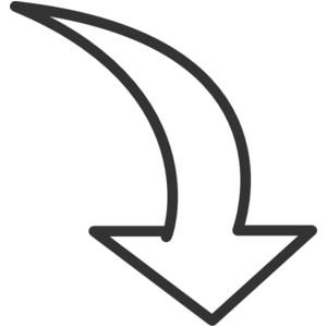 Block arrow clipart clip download White Curved Arrow clip art - vector clip art online, royalt ... clip download