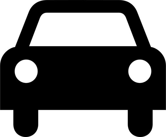 Free car icon transport. Block clipart motor silhouette