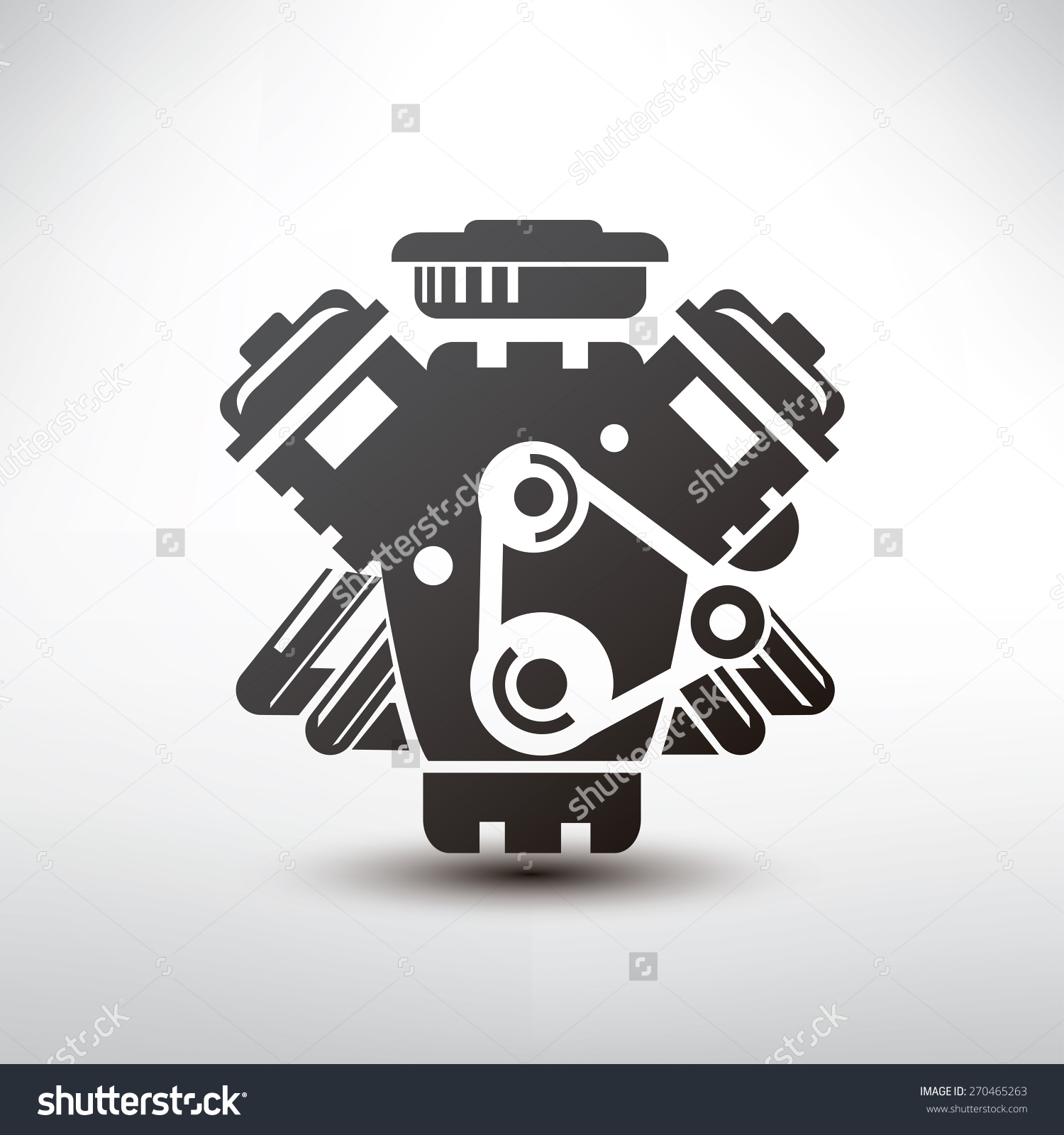 Block clipart motor silhouette. Clipartfest simple car engine