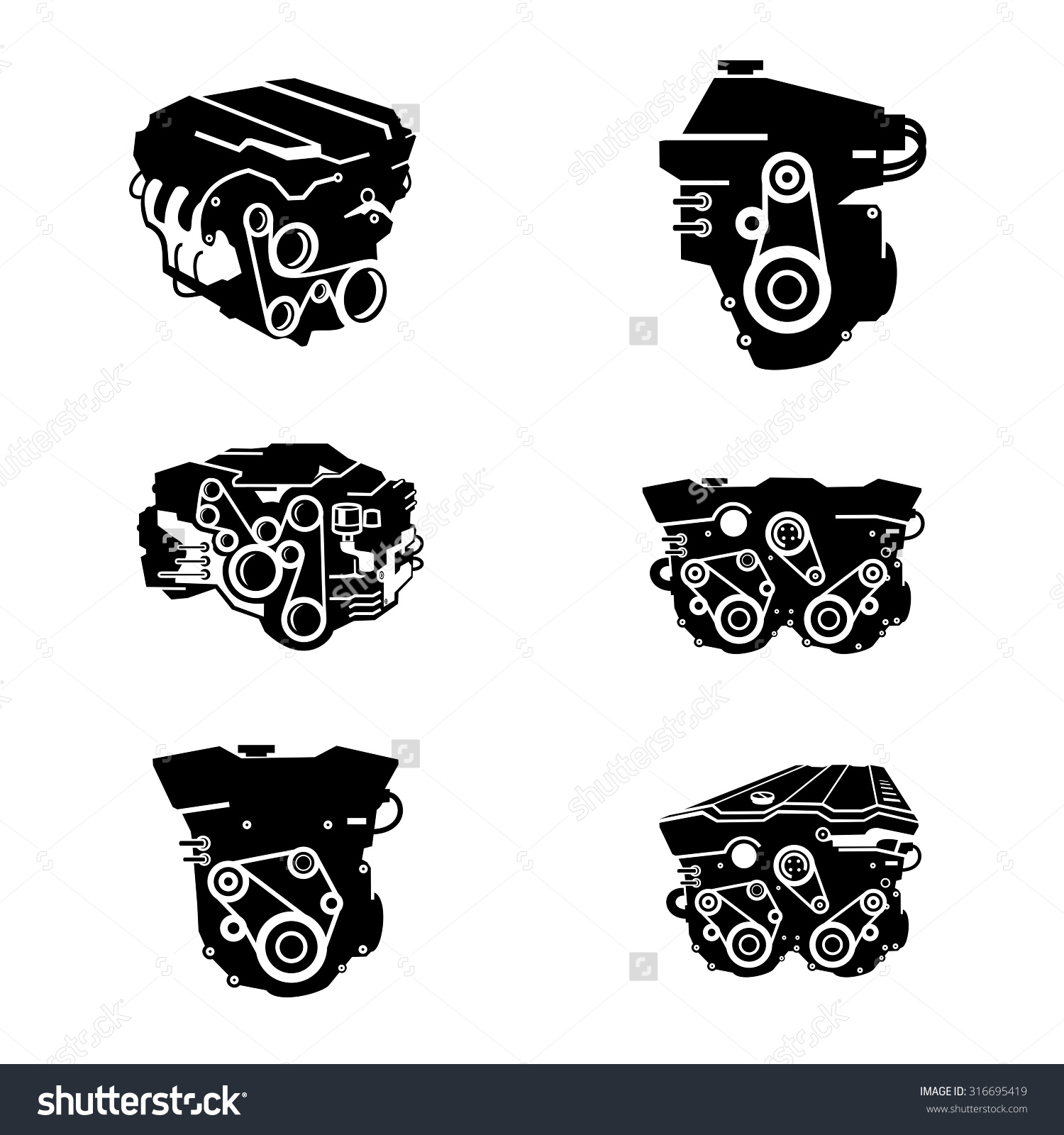 Block clipart motor silhouette. Car engine clipartfox icons