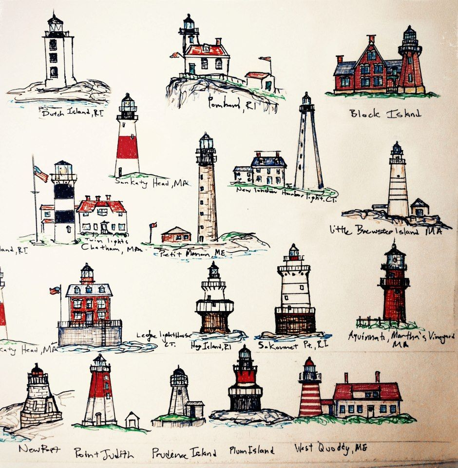 Block island lighthouse clipart graphic library stock New England Lighthouses   Lighthouses   Lighthouse art, New england ... graphic library stock