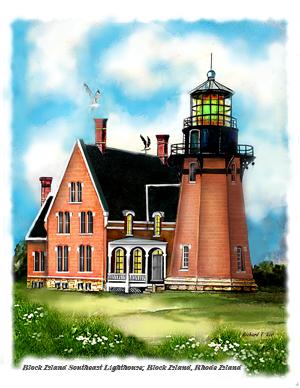 Block island lighthouse clipart freeuse download Block Island Southeast freeuse download