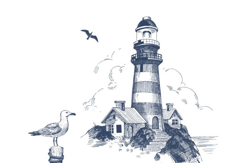 Block island lighthouse clipart clipart transparent library A Guide to Local Islands - Rhode Island Monthly clipart transparent library