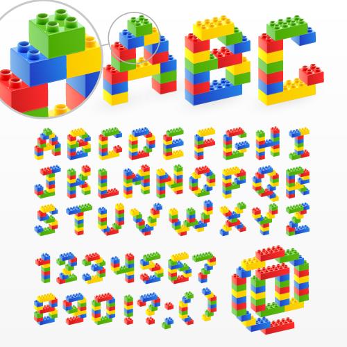 Letters kid alphabet cliparthut. Block letter clipart free