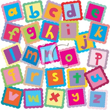 Block letter clipart free clipart transparent download All the Letters of the Alphabet In ABC Blocks For Learning ... clipart transparent download