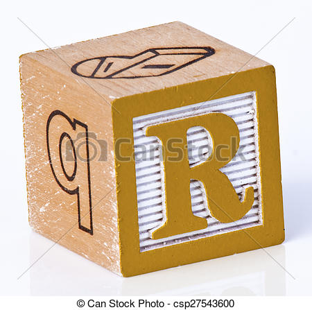 Block letter clipart free svg royalty free stock Stock Photography of Childs Block Letter R - Kids playing block ... svg royalty free stock