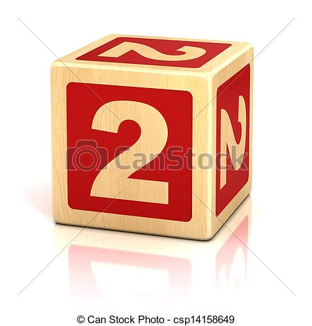 Block number 2 clipart image black and white library Stock Photo of number two 2 wooden blocks font - number, block ... image black and white library