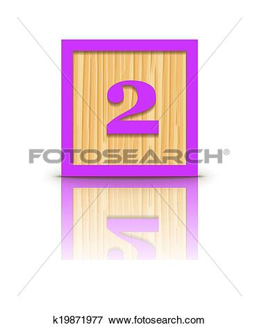 Block number 2 clipart banner royalty free library Clip Art of Vector number 2 wooden block k19871977 - Search ... banner royalty free library
