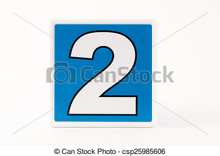 Block number 2 clipart png free library Stock Photography of Number 2 Child's Building Block - Number 2 in ... png free library