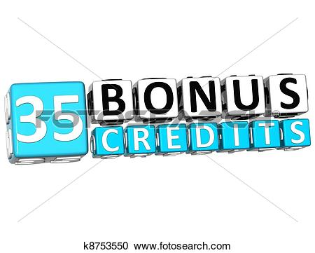 Block number 35 clipart transparent Stock Photography of 3D Get 35 Bonus Credits Block Letters ... transparent