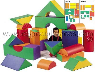 Block number 35 clipart svg freeuse library Children's Factory 35-Piece Module Soft Play Block Set   eSpecial ... svg freeuse library