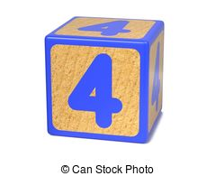 Of childrens alphabet on. Block number clipart