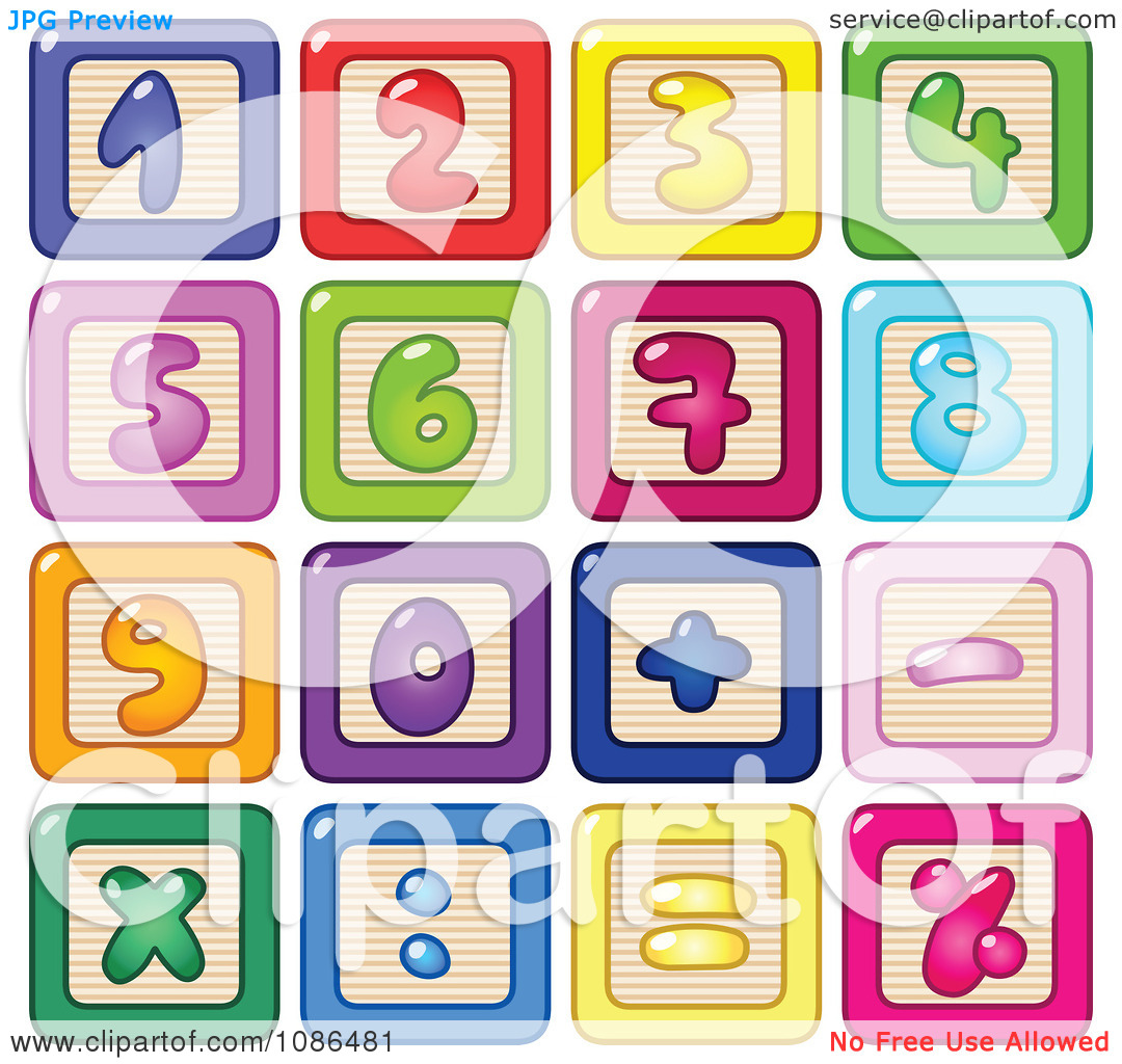 Block number clipart graphic transparent library Number block clipart - ClipartFest graphic transparent library