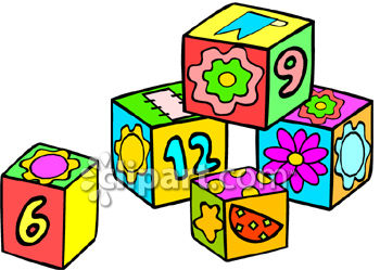 A bunch of blocks. Block number clipart