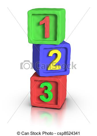 Of play blocks numbers. Block number clipart