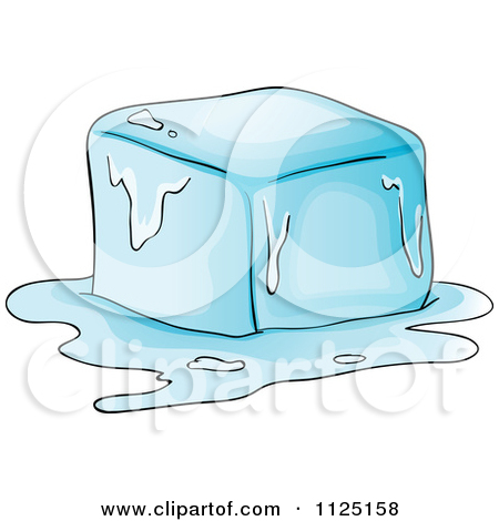 Block of ice clipart clipart royalty free library Cartoon Of A Melting Ice Cube - Royalty Free Vector Clipart by ... clipart royalty free library