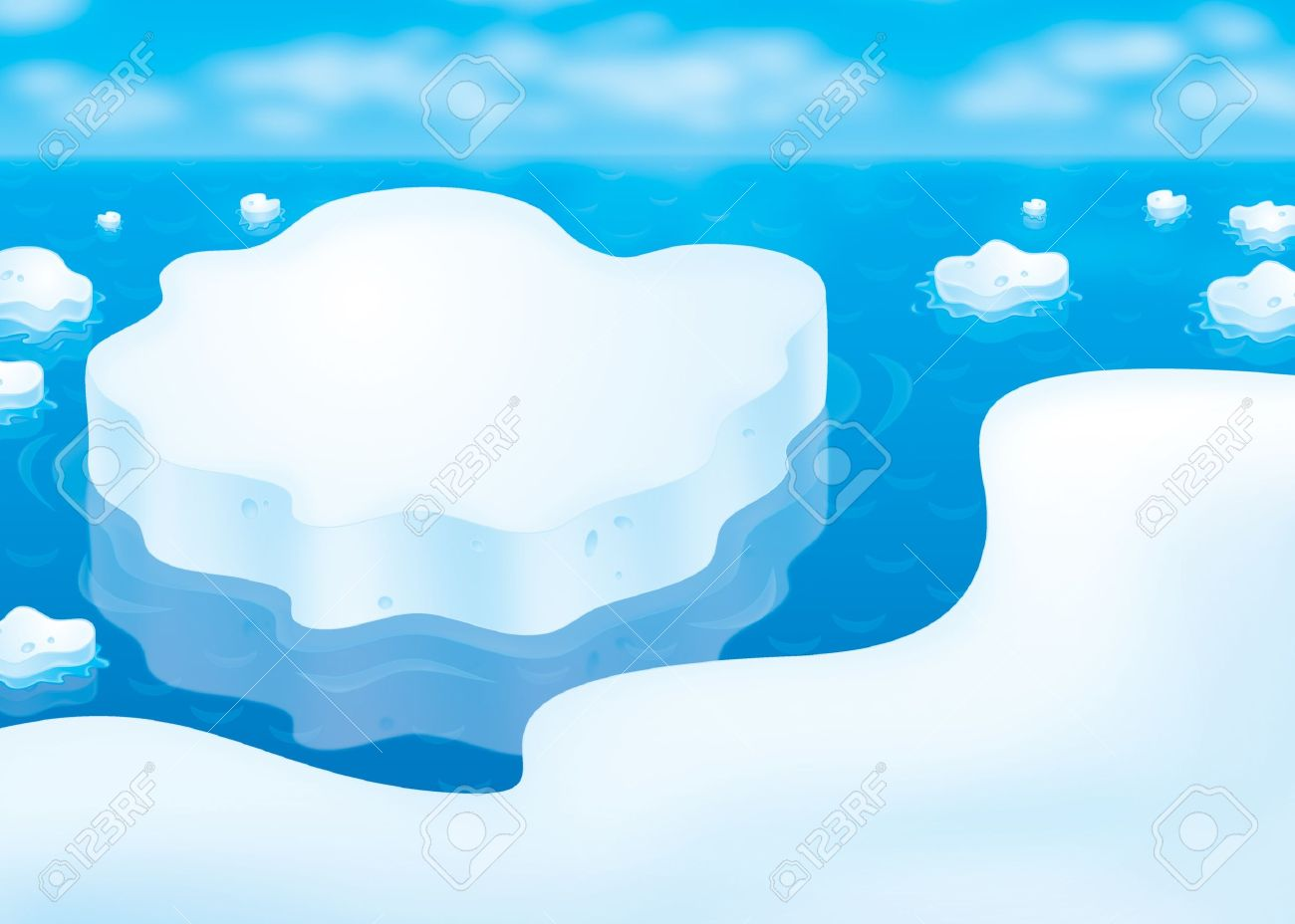 block of ice clipart #22