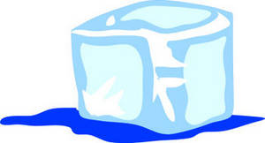 Block of ice clipart png royalty free stock Clipart Illustration of a Melting Ice Cube png royalty free stock