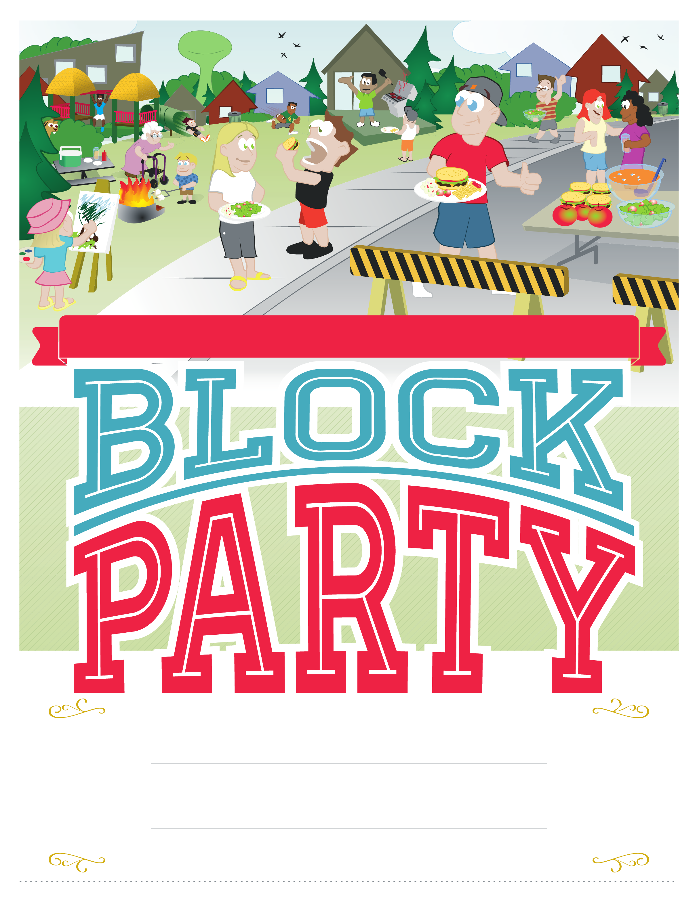 Block party flyer images copyright free clipart jpg free stock Block Party Clipart (96+ images in Collection) Page 1 jpg free stock