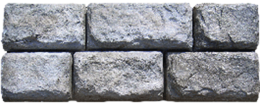 Block retainer wall in the lake clipart