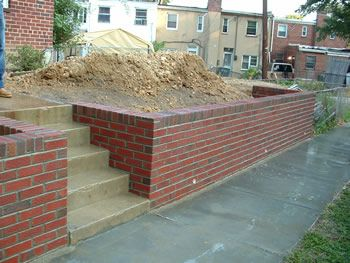 Block retainer wall in the lake clipart image free Brick Retaining Wall for our abode? Love red brick but may clash ... image free