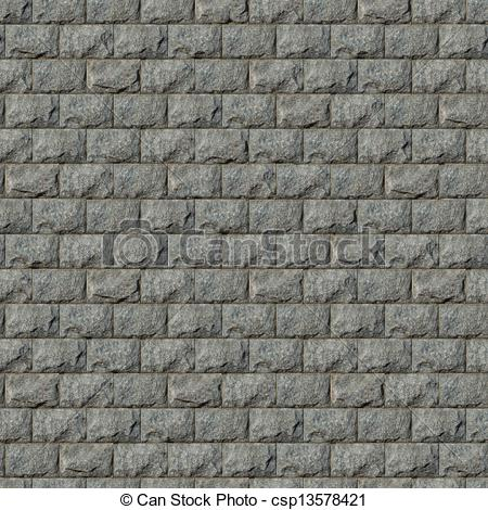 Block wall clipart picture black and white stock Clip Art of Seamless Texture of Wall from Granite Blocks ... picture black and white stock