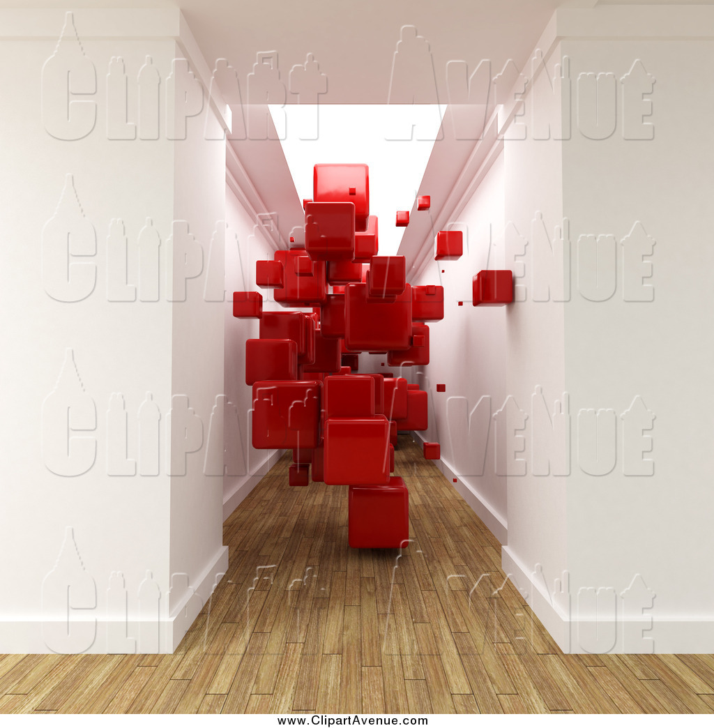 Blocked hallway clipart clip freeuse download Avenue Clipart of a 3d Hallway with Wood Flooring, Filled with ... clip freeuse download