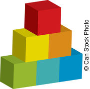 Blocks clipart. Tower illustrations and royalty