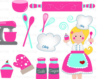 Blonde boy chef clipart clip free Blonde chef – Etsy NZ clip free