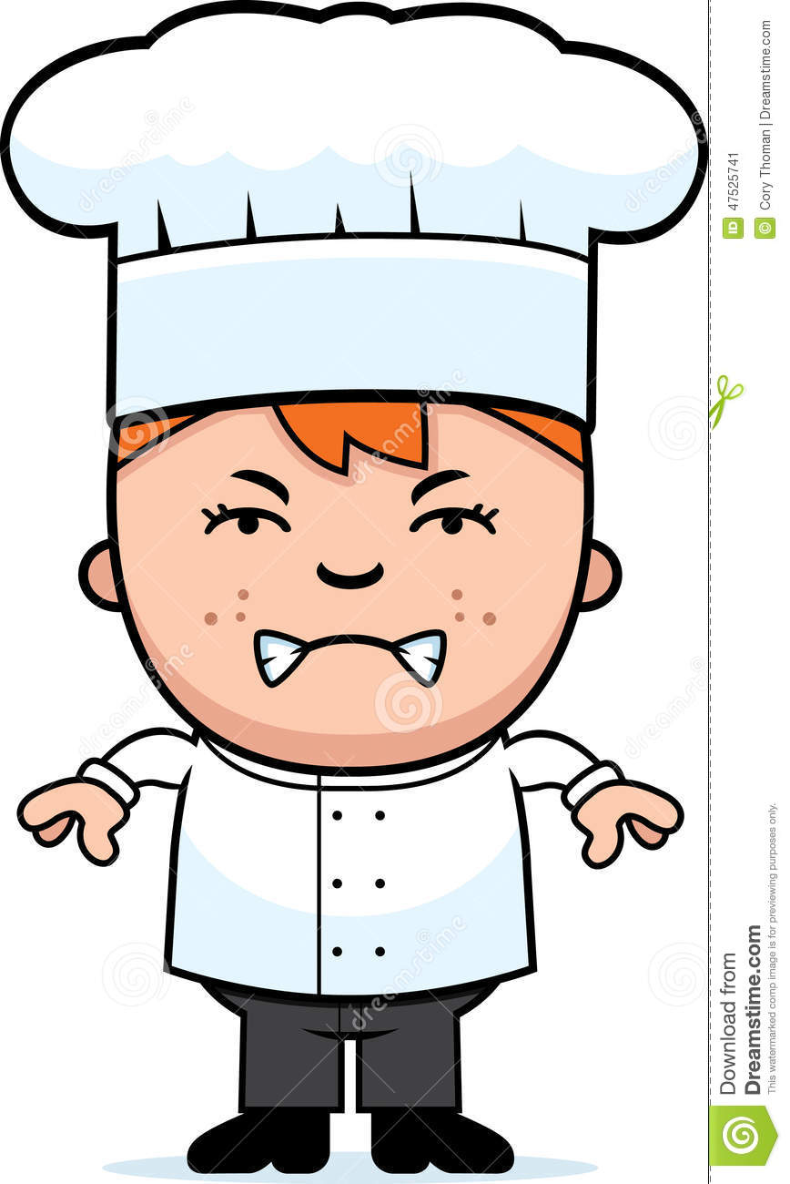 Blonde boy chef clipart graphic download Angry Child Chef Stock Vector - Image: 47525741 graphic download