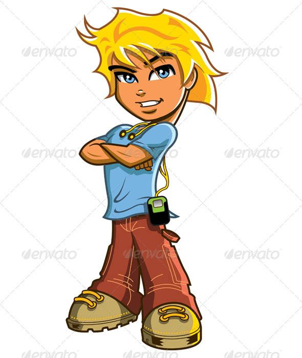 Blonde boy chef clipart picture black and white Blonde Boy With Headphones | Cartoon, Graphics and Blondes picture black and white